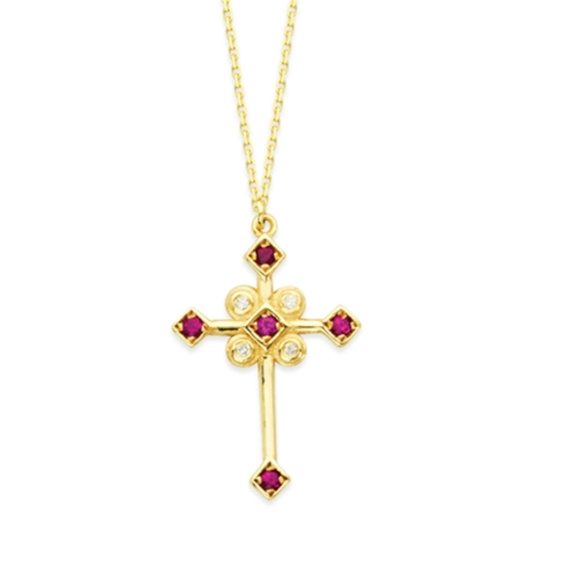 Gold Plated Marionite Cross Pendant Including 24 Inch Necklace Marionite Cross Pendants